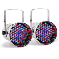 Lighting Effects  - 2 x Lightcraft Hepburn LED PAR36 Spotlight DMX RGB LEDs 60 Aluminium