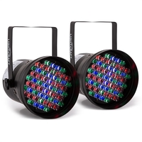 Lighting Effects  - 2 x Lightcraft Hepburn LED-PAR36 Spotlights DMX 60 RGB LEDs Black
