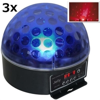 Lighting Effects  - 3x Jelly Beamz DJ Magic Ball LED RGB DMX light effect