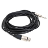 6m XLR Female to 6.3mm Mono Jack High Quality Audio Cable Lead