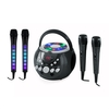 Musical Games auna SingSing Black + Dazzl Mic Set Karaoke System Microphone LED lighting