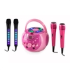 Musical Games auna SingSing Pink + Dazzl Mic Set Karaoke System Microphone LED lighting
