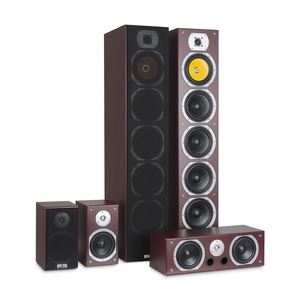 auna V9B Surround-sound Speaker Set 5 Speakers 440W RMS mahogany