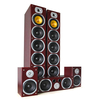 Beng V9B 5 Channel Home Theatre Speaker Set Mahogany 1240W MAX