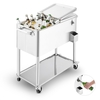 Blumfeldt Springbreak 2000 Beverage Cart Terrace Cooler 80l Stainless Steel