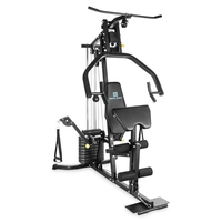 Training & Weight Lifting Benches  - CAPITAL SPORTS A15 Multifunctional Home Gym Fitness Trainer Black 100 lb Steel