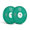 Capital Sports Performan Urethane Weight Plates Pair 10kg Green
