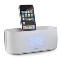 Docking Stations  - Denver IFM-15 iPhone iPod Speaker Dock Clock Radio AUX White