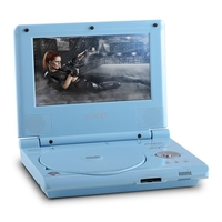 "Portable DVD Players  - Denver MT-770 18cm (7"") Portable DVD Player Battery 12V Blue"