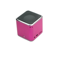 Speakers  - Denver SP-6 Mini Speaker Cube AUX microSD Pink
