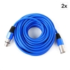 FrontStage 2 x XLR Cables 10m Blue Male to Female