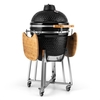 "Klarstein Kingsize Kamado Ceramic Grill 21"" Smoker Slow Cooking Stainless Steel"