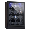 Klarstein Klagenfurt Watch Winder Fits 12 Watches Right-Left Running LED Touch Display Pure Handmade