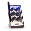 Klarstein Klingenthal Watch Winder Right-Left-Run 12 Watches LED Touch Mahogony Pure Handmade