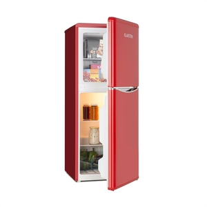 Klarstein Monroe L Refrigerator 70l Refrigerator Compartment 38l Freezer Retro Look Red
