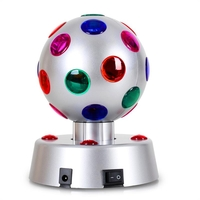 "DJ Equipment  - OneConcept 4"" Disco Ball 4-S LED Motorised Light Effects Silver"