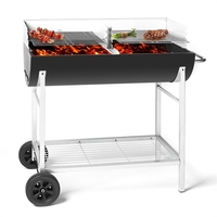 Barbecues & Accessories  - OneConcept GQ5 Beef Machine Charcoal Grill