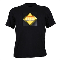 T-Shirts  - T-Shirt LED 3-Colour Warning Party People Design Size XL
