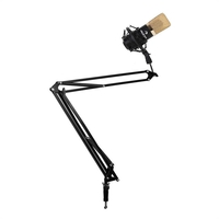 Microphones  - USB Studio Microphone Spider Mount with Boom Mic Stand