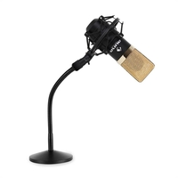 Microphones  - USB Studio Microphone With Flexible Table Stand In Gold Black