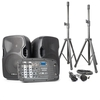 Vexus PSS302 Portable PA Sound System 300W max. Bluetooth USB SD MP3