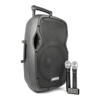 "Portable HiFi-Devices  - Vonyx AP1200PA mobile PA system 30 cm (12"") Bluetooth USB SD MP3 VHF battery"