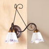 2-bulb CARTOCCIO wall light