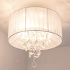 Dagny ceiling light,  organza lampshade in white