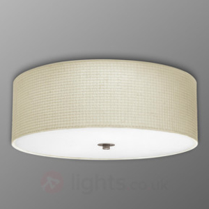 Wall lamps|Ceiling lights  - Kalunga Round Fabric Ceiling Lamp