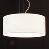 Madalina fabric pendant light with white lampshade