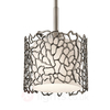 Narrow hanging light Silver Coral,  18.4 cm