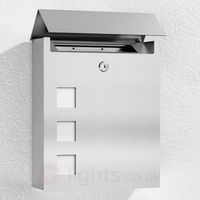 Letter & Newspaper Boxes|Hooks|Outdoor Lighting  - Ulani Noble Letterbox Made of Stainless Steel