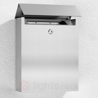 Letter & Newspaper Boxes|Hooks|Outdoor Lighting  - Ulani Subtle Letterbox Made of Stainless Steel