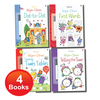 Usborne Wipe-Clean 4 Books Set Collection inc Wipe-Clean Pen NEW