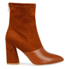 Ellarta TAN Faux Suede Ankle Boot With faux leather tip
