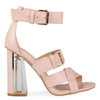 Imogen Statement Heel in Pink Faux Leather