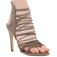 High Heels  - Jane Heel In Khaki Faux Suede