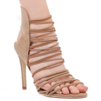 High Heels  - Jane Heel In Nude Faux Suede