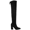 Obella Over the Knee Boots in Black Faux Suede