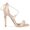 Talla Stiletto Lace Up Heels in Nude Faux Leather