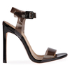 Tammi Strappy Patent Heel In Black With Perspex Fastening