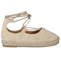 Casuals  - Tanya  espadrille in Cream faux suede