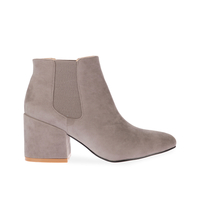 Boots  - Verali Chelsea boot in Grey Faux Suede