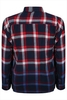 D555 Navy,  Red & White Double Pocket Checked Blue Ombre Shirt