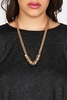 Gold Chain Multi Hoop Statement Necklace