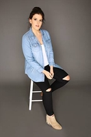 Casual Shirts  - Light Blue Denim Long Sleeved Shirt With Pockets