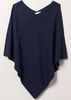 Jumpers ETERNA Women's poncho with V-neck dark blue