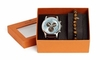 Chronograph Blue Watch And Tigerseye Bracelet Gift Set