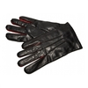 Contrast Leather Gloves Black and Red
