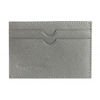 Credit Card Holder Grey Saffiano Leather